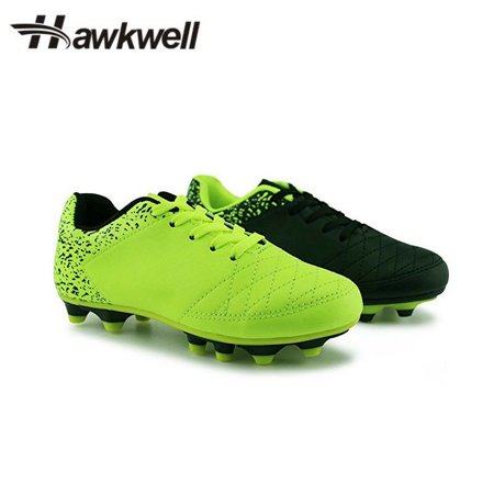 New Football Cleats Shoes (New Kids Outdoor Cleats Turf Soccer Shoes Athletic Football Boots Hawkwell - Black - 13 kiddies)
