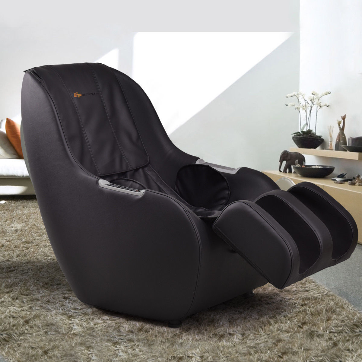 Goplus Electric Full Body Massage Chair Roller 3D Kneading Knocking Massage Chair Black