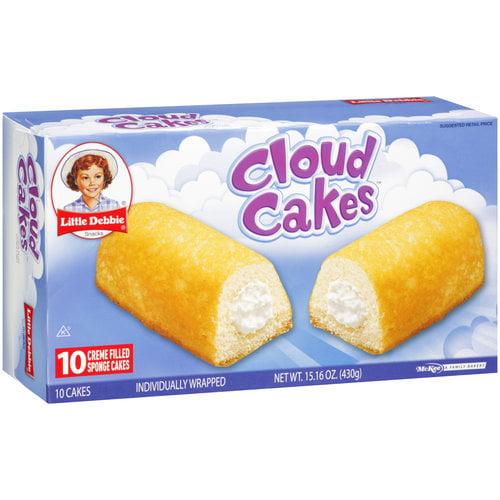 Little Debbie Creme Filled Cloud Cakes - 10 CT