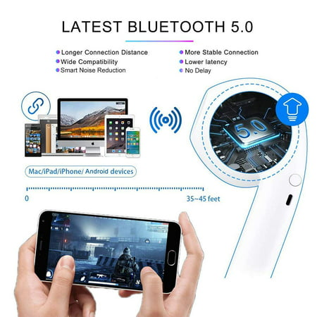 Bluetooth Headphones, Bluetooth 5.0 Earphones Wireless Headset w/ Charge Case Touch Control Earbuds for Android IOS - image 5 of 10