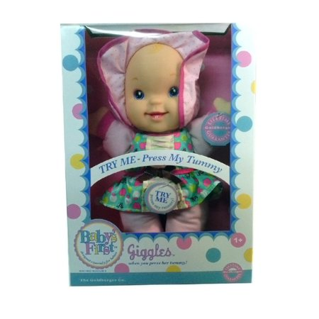 Baby's First Giggles Doll Especially Designed for Babies By The Goldberger Company Ship from