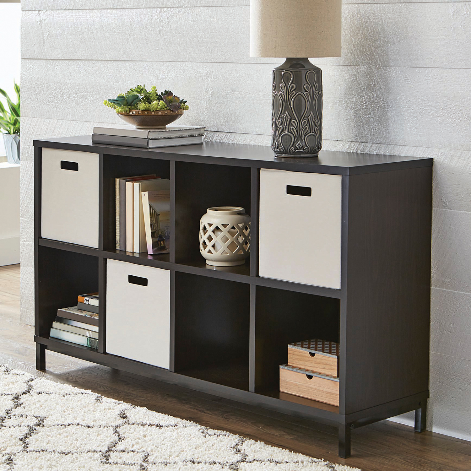 Better Homes and Gardens 8-Cube Storage Organizer with Metal Base, Multiple Finishes
