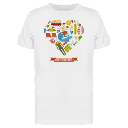 Love Surfing Cool Summer Doodles Tee Men's -Image by Shutterstock
