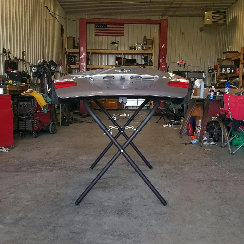 500 LB Capacity Portable Work Stand Foam Cushion Paint Auto Body Shop Garage New
