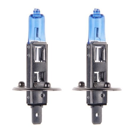 2x H1 Halogen 55W 12V Low-Beam/High-Beam Headlight/Fog Light Bulbs Bright (55w Xenon Blue Bulbs)