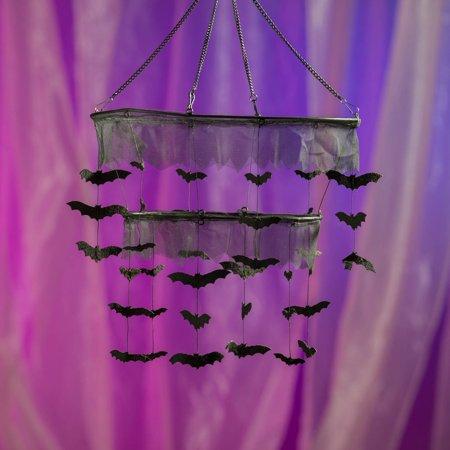 Fabric Bat Chandelier Halloween Decoration