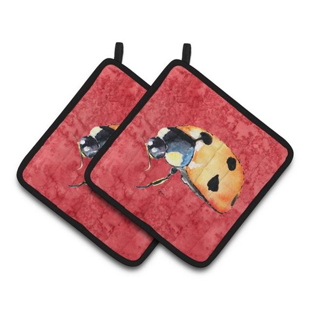 Carolines Treasures 8869PTHD Lady Bug on Red Pair of Pot Holders, 7.5 x 3 x 7.5 in. - image 1 de 1