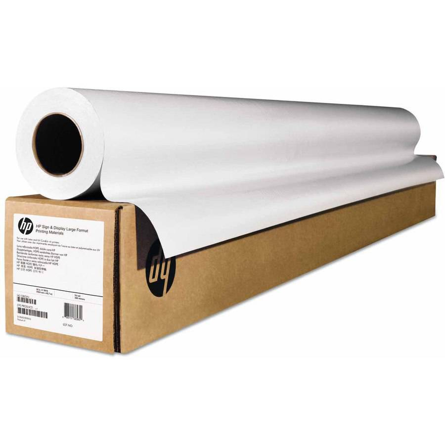 "HP Wide-Format Matte Canvas Paper Roll, 42"" x 50', 16 mil, White"
