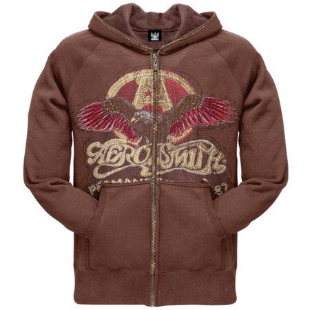 Logo Zip Hoody Sweatshirts - Aerosmith - Eagle Logo Premium Zip Hoodie