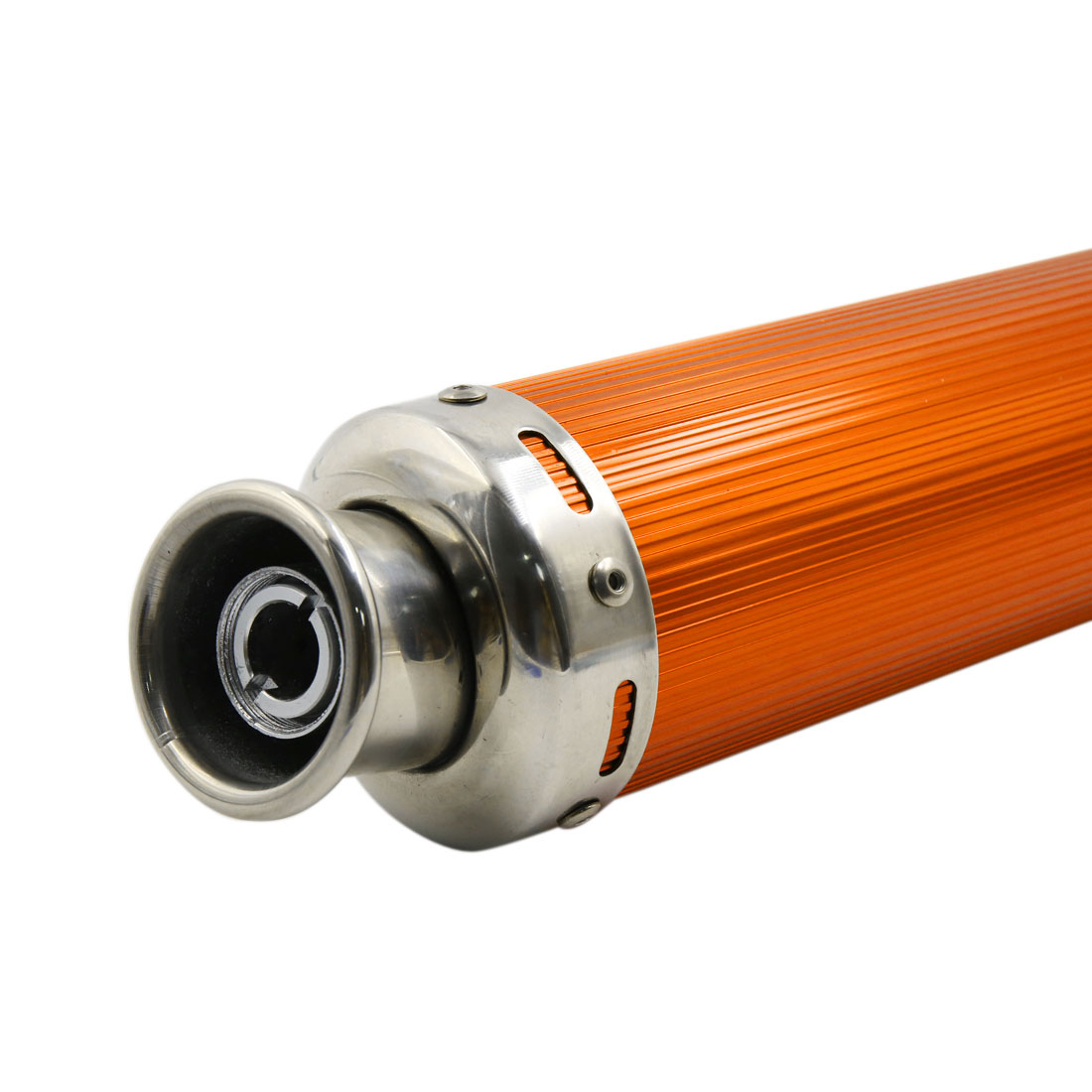 360 x 90mm Gold Tone Aluminum Alloy Cylinder Shaped Motorcycle Exhaust Pipe - image 2 de 5
