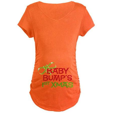 a9ee09cba3e16 CafePress - Cafepress Baby Bump's 1st Xmas Maternity Dark T-Shirt -  Walmart.com