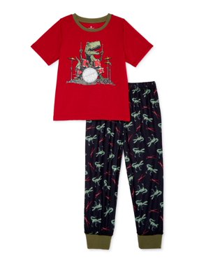 Championship Gold Toddler Boys Short Sleeve Pajamas, 2pc Set (2T-4T)