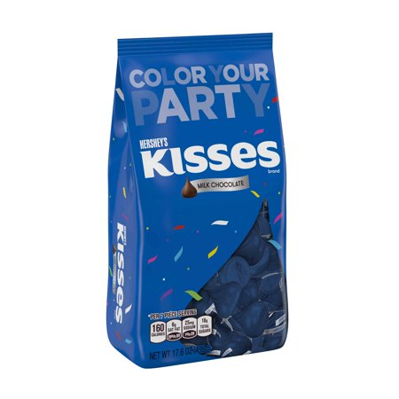 Hershey's Kisses Blue Foil Milk Chocolate Candy, 17.6 Oz. (Blue Kisses Chocolate)