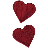 Wrights Sew-On Appliques 2/Pkg-Red Hearts