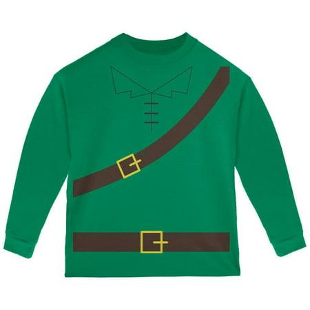 Halloween Toddler Shirts (Halloween Robin Hood Costume Green Toddler Long Sleeve)