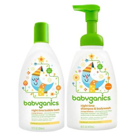 Babyganics  Baby Bubble Bath With Shampoo   Body Wash  Orange Blossom