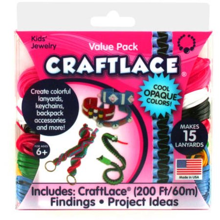 Toner Plastics, Inc. Craft Lace Opaque Colors Value Pack, Opaque Colors
