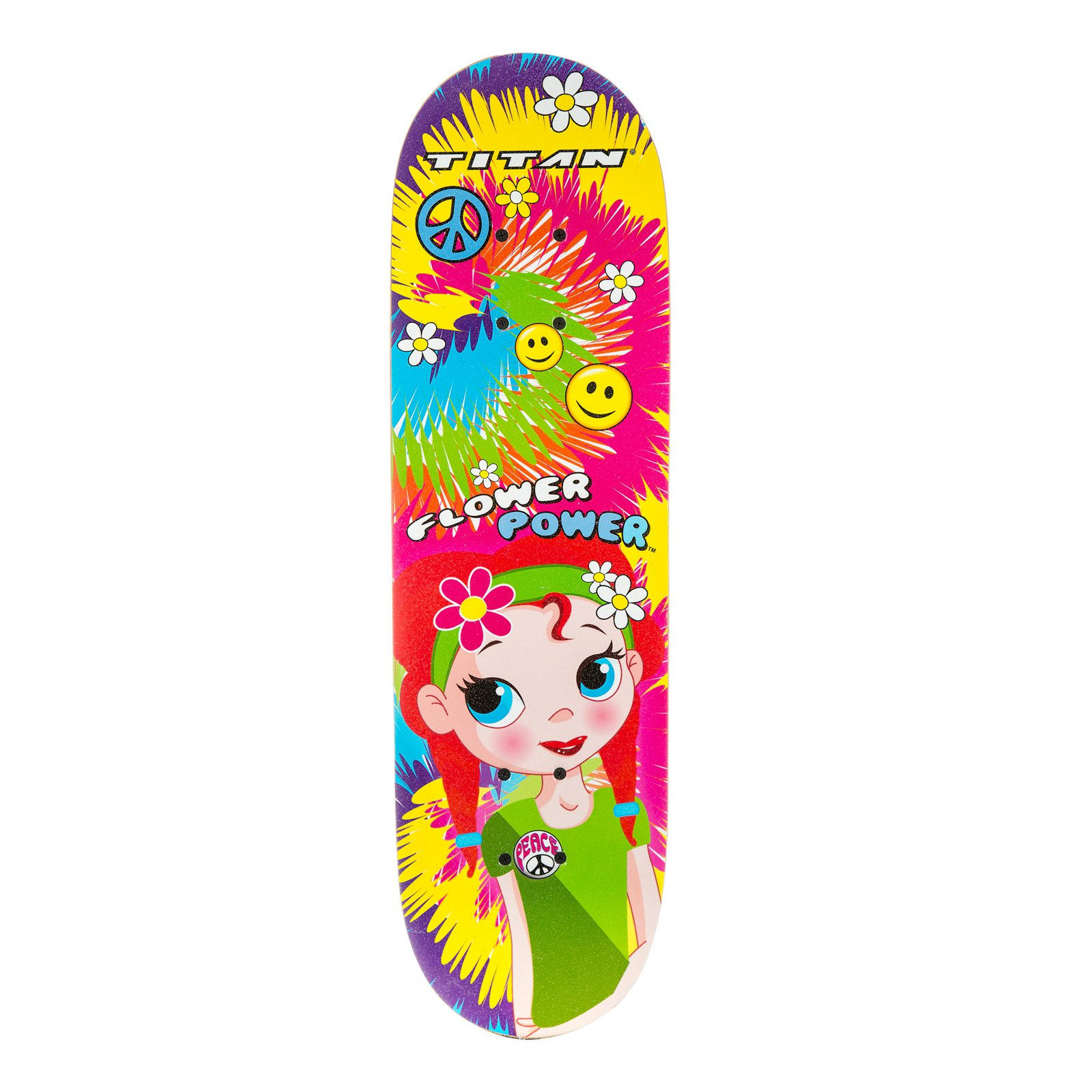 "28"" Titan Flower Power Princess Girls' Complete Skateboard, Multi-Color by Generic"