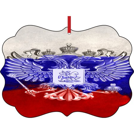 Flag Russia Russian Union Jack Paint Style Flag Elegant Aluminum Semigloss Christmas Ornament Tree Decoration - Unique Modern Novelty Tree Décor Favors - Union Jack Decorations