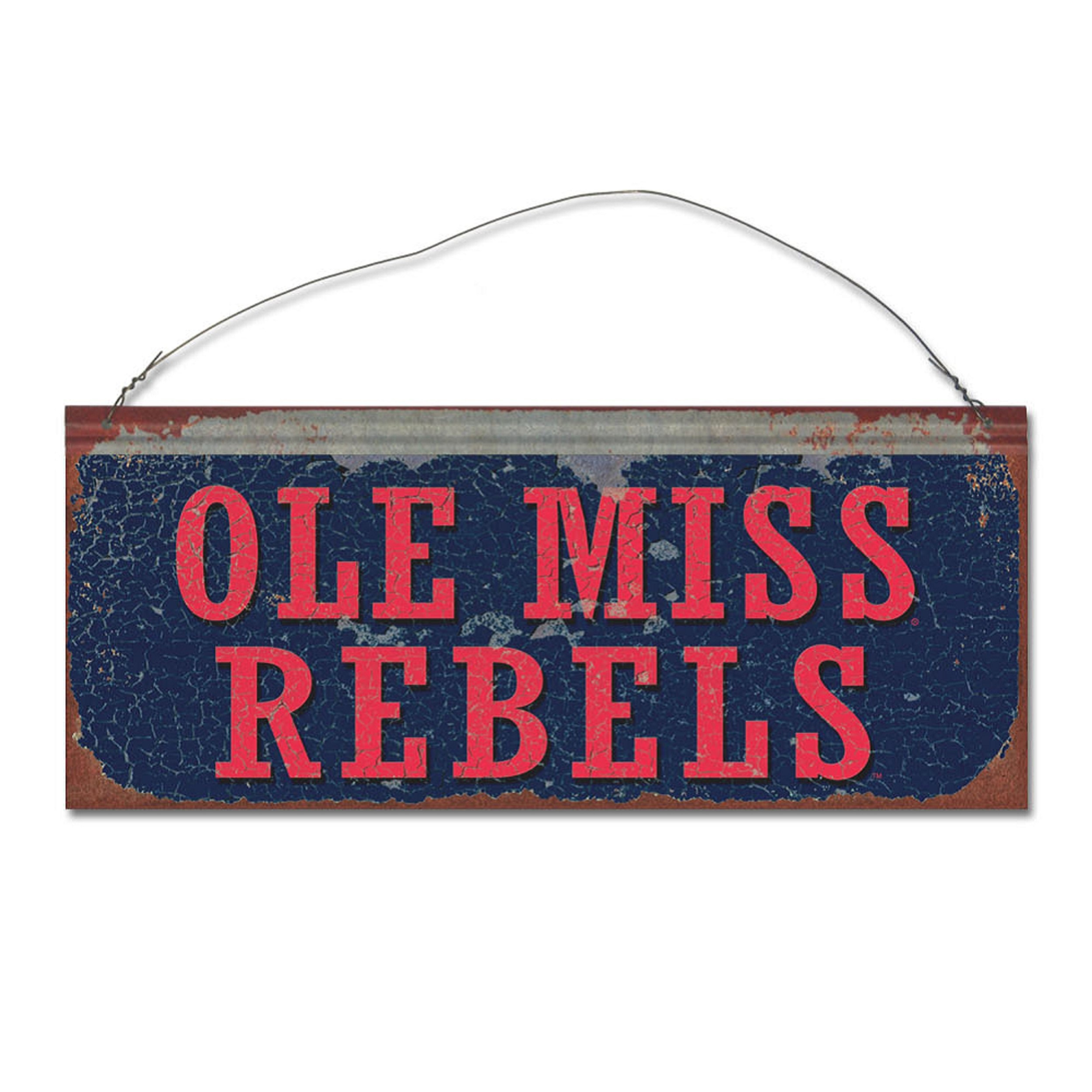 University of Mississippi Rebels Small Tin Sign
