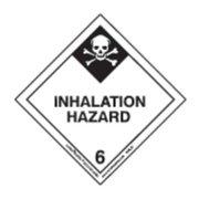 LABELMASTER HML29 Inhalation Hazard Label,100mmx100mm G0271461