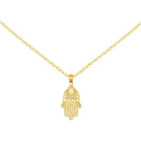 14kt Yellow Gold Hand of God Pendant