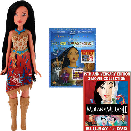 Pocahontas DVD & Pocahontas Fashion Doll Bundle