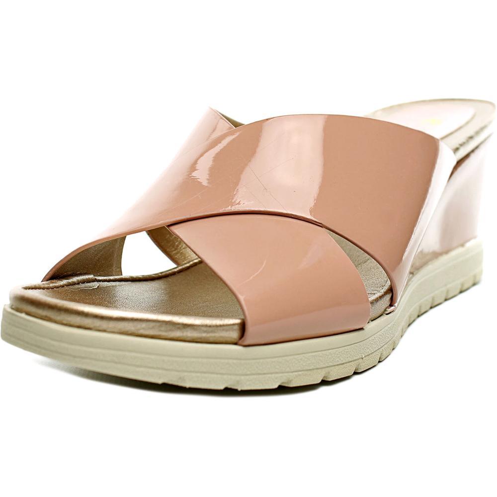 Easy Spirit e360 Hartlyn W Open Toe Patent Leather Slides Sandal by Easy Spirit e360