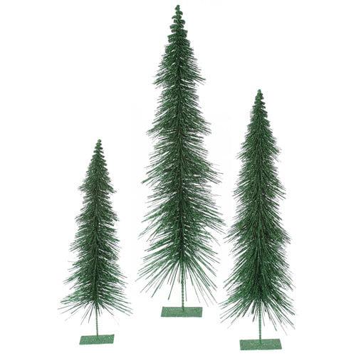 The Holiday Aisle 3 Piece Glitter Layered Christmas Tree