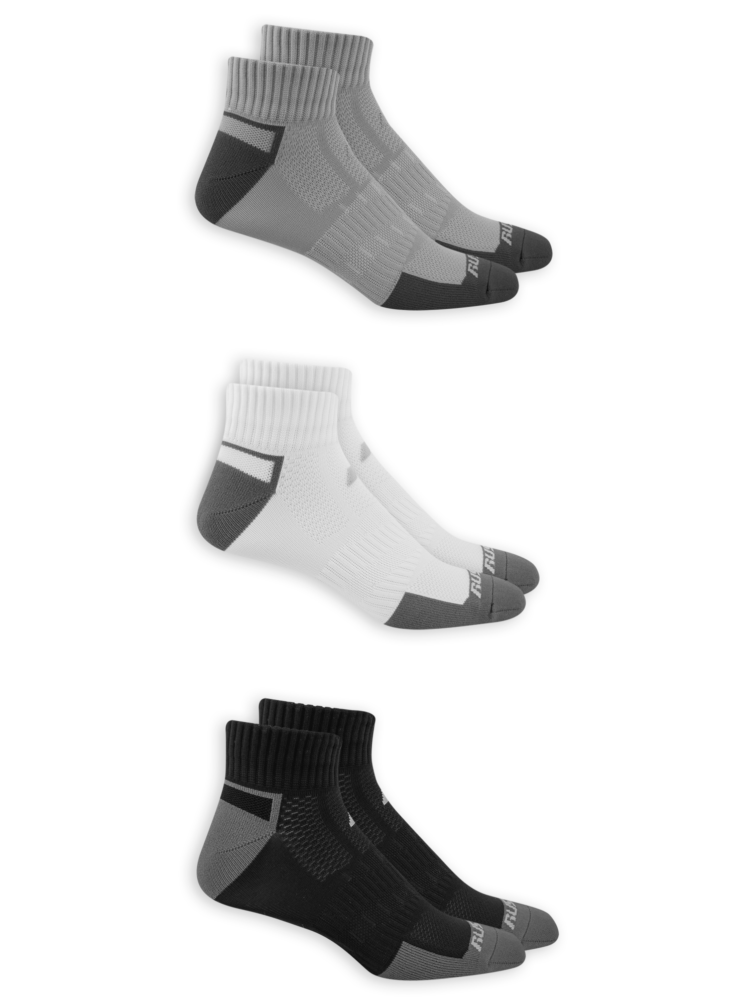 Performance Men's COOLFORCE Zone Cushion Low Cut Socks 3 Pack
