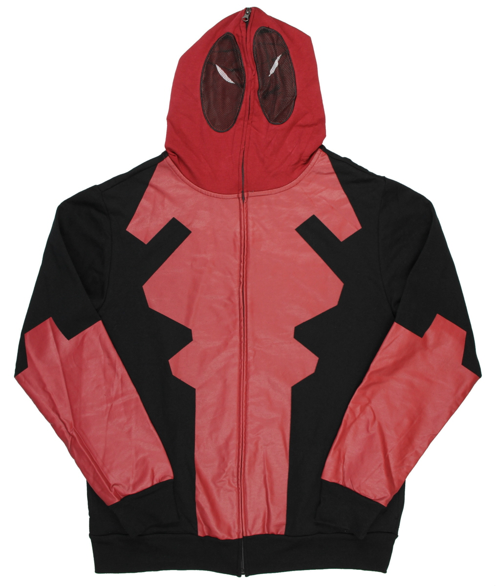 Marvel Deadpool Costume Zip Up Hoodie Sweatshirt