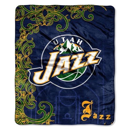 (Utah Jazz NBA Street Edge 50x60 Micro Raschel Throw Blanket)
