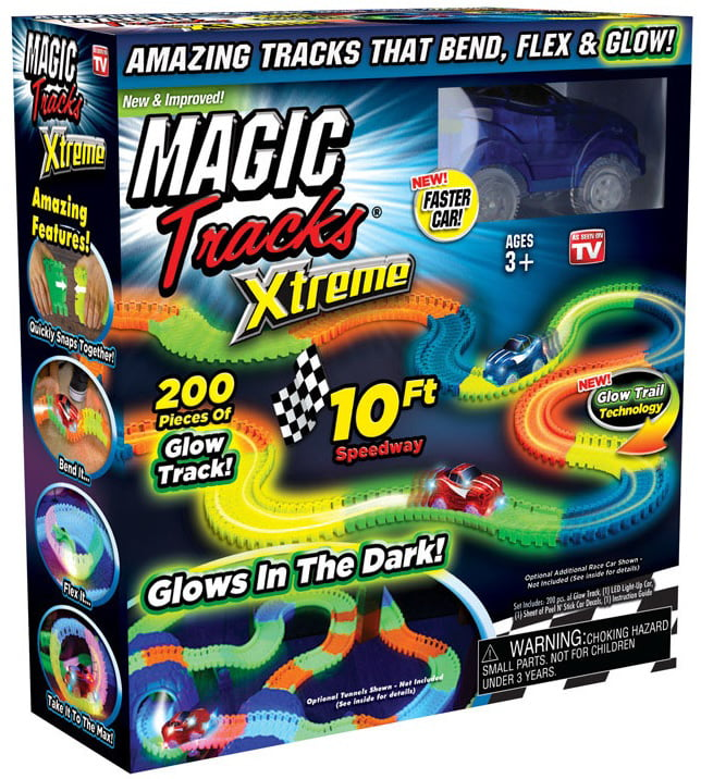 Magic Tracks Xtreme 10ft Racetrack with Blue Race Car As Seen On TV