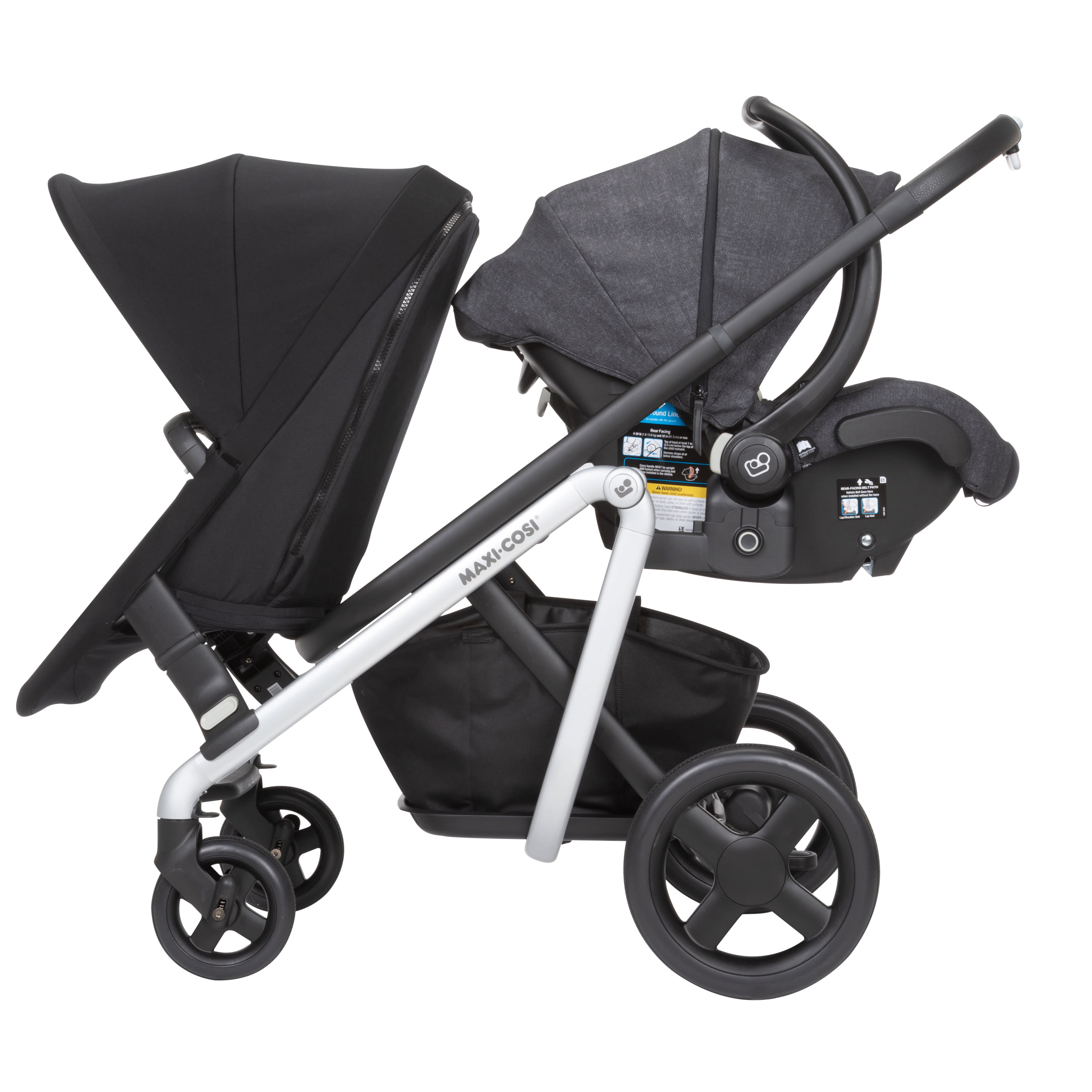 Frequency Black Maxi-Cosi Lila Modular All-in-One Stroller One Size
