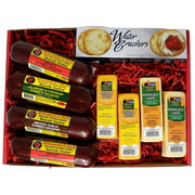 WISCONSIN'S BEST and WISCONSIN CHEESE COMPANY Ultimate Cheese and Sausage Gift Basket, 9pc