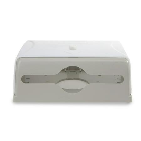 Kraft Paper Dispenser - Mind Reader Multi-Fold Surface Mounted Paper Towel Dispenser, White