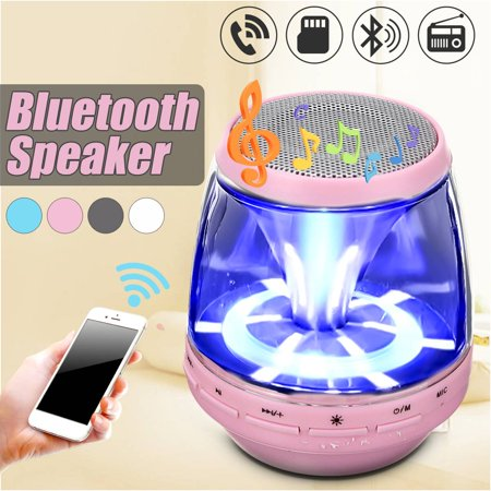 Mp3 Mini Portable Speaker System (Portable Mini Wireless Stereo Bluetooth Speaker with LED Light For Smartphone Tablet)