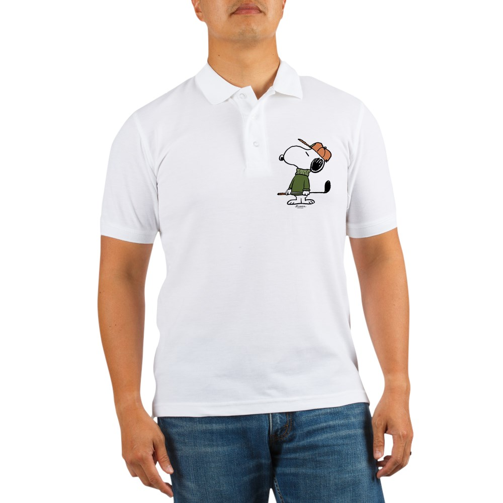 CafePress - Snoopy Golfer Golf Shirt - Golf Shirt, Pique Knit Golf Polo