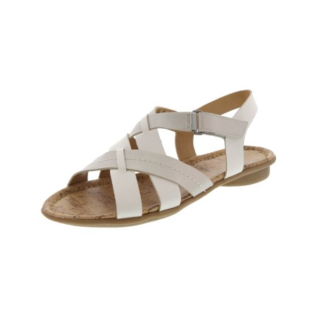 95f62c78a217 Naturalizer Women s Wyla White   Silver Ankle-High Leather Sandal - 6.5M -  image ...