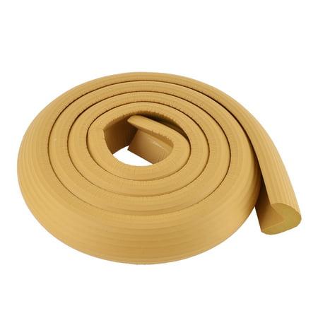 Unique Bargains 2M Wood Color Table Corner Edge Soft  Protection Cushion Guard