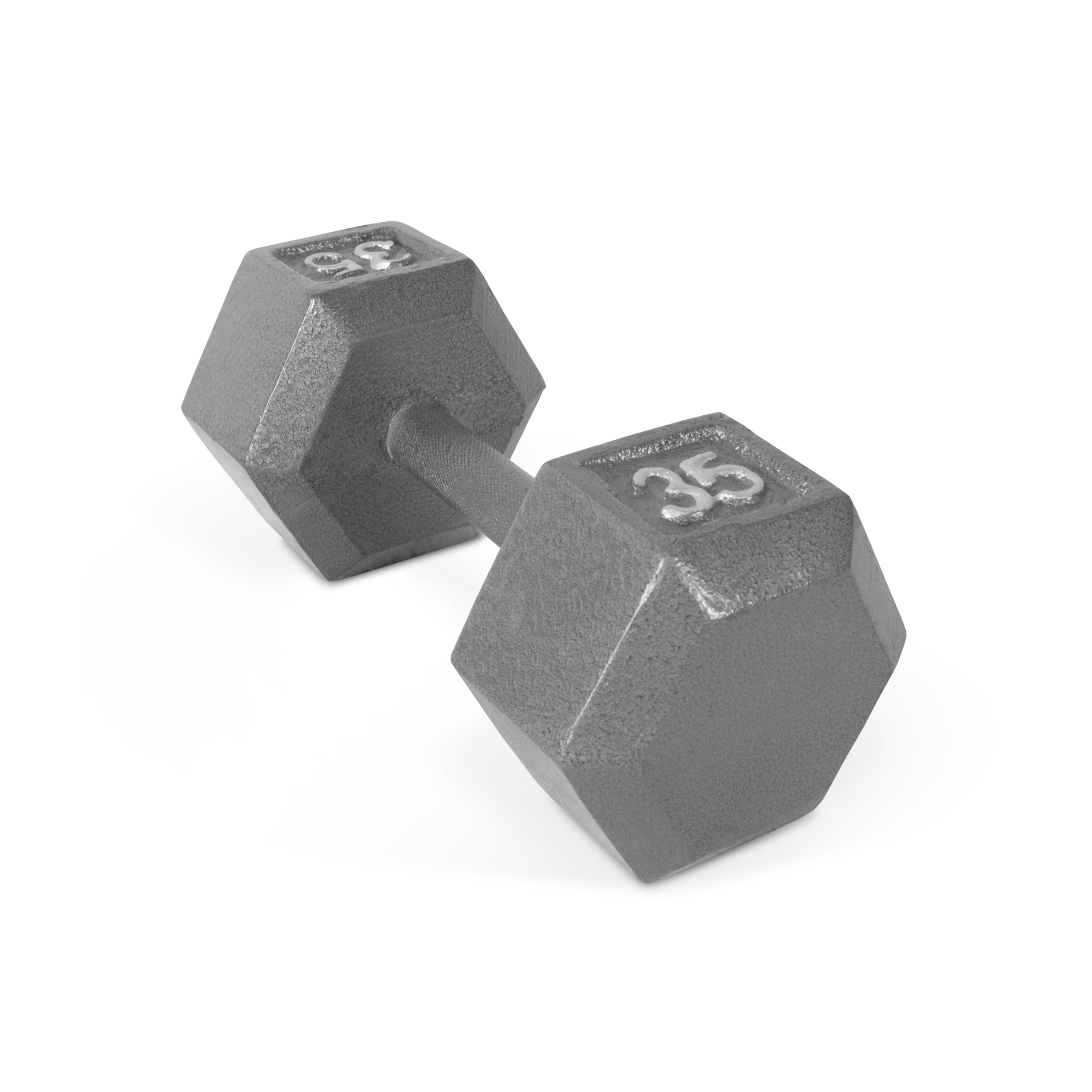 CAP Barbell Cast Iron Hex Dumbbell, Single 35lbs