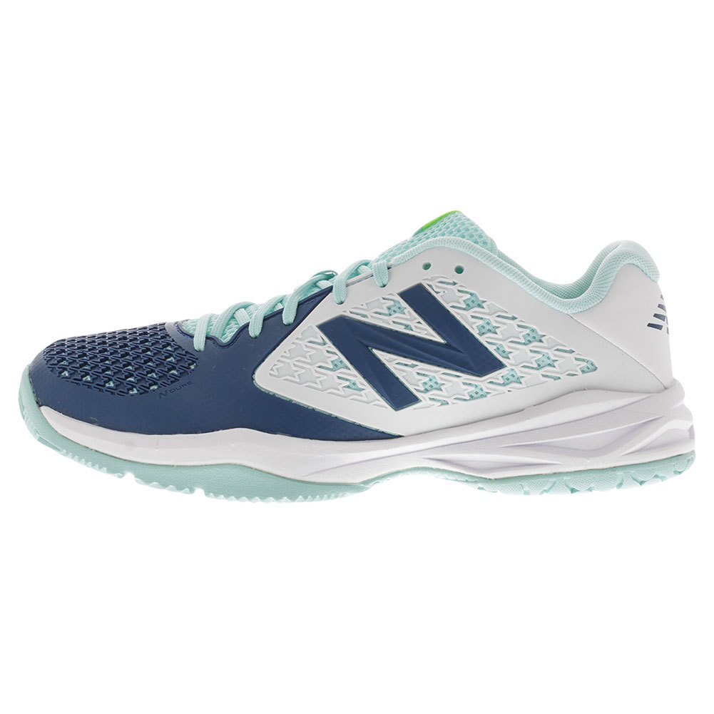 Juniors` 996v2 Tennis Shoes Sea Glass and Deep Water