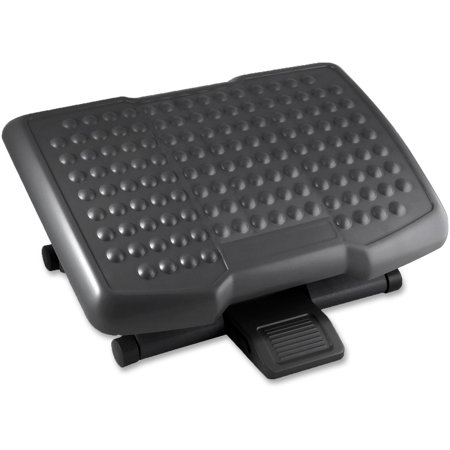 Lorell, LLR12818, Adjustable Height Footrest, 1 Each, Black ()