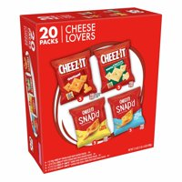 Cheez-It Snack Variety Pack, Original & Snap'd Cheese Lovers, 17.6 oz, 20 Count