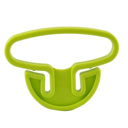 Plastic Portable Shopping Bag Handle Holder Green 2pcs (Antique Green Bone Handles)