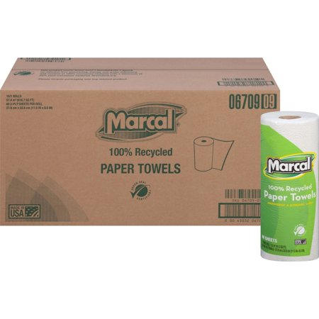 Marcal 100% Recycled, Paper Towels, White, 15 / Carton (Quantity) Eco Friendly Paper Towels