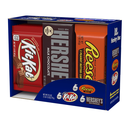 Kit Kat Halloween Orange (Hershey's, Full-Size Bars Halloween Variety Candy Pack, 18)