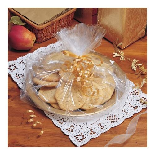 Club Pack of 72 Clear Cellophane Gift Basket Treat and Goodie Bags 18""