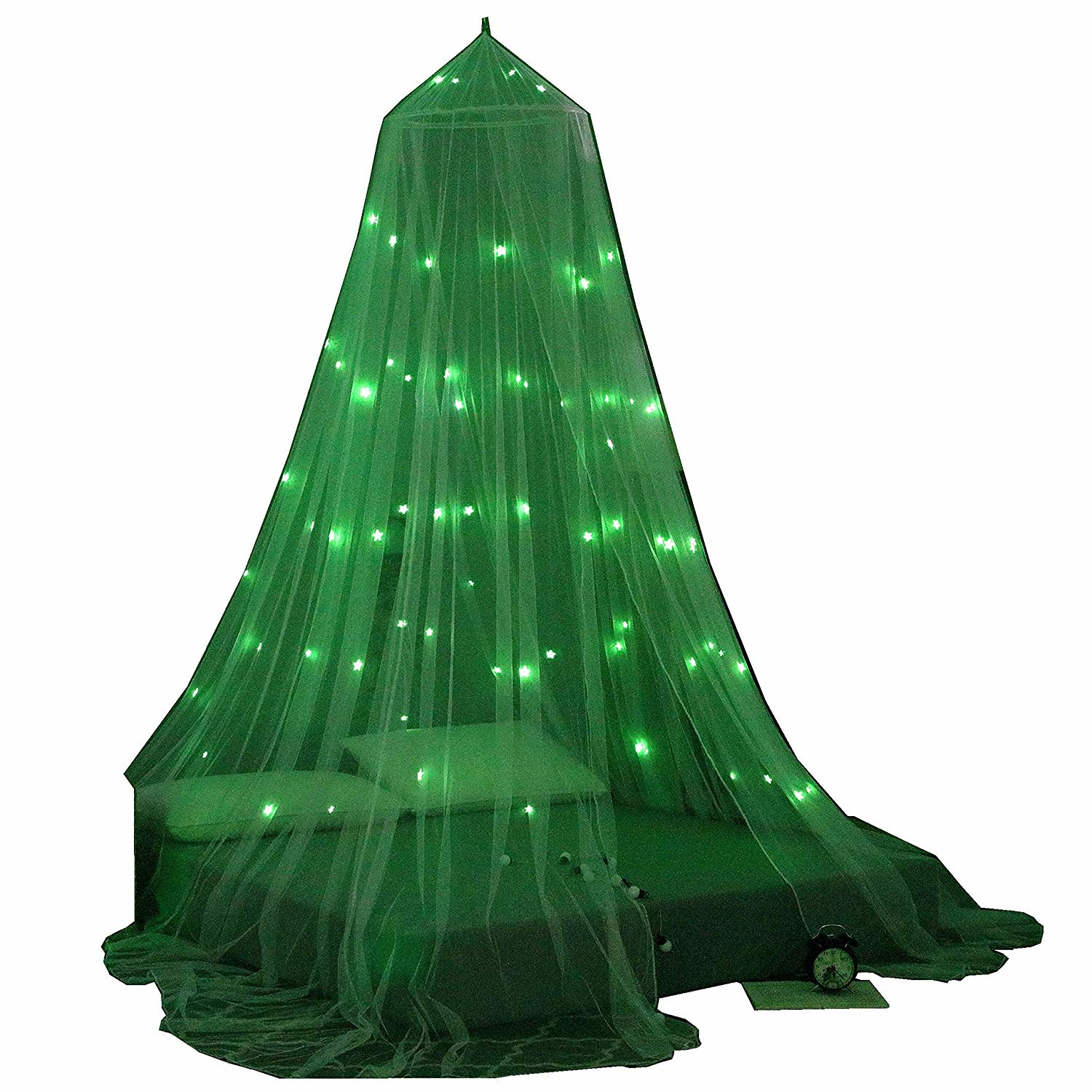 Octorose Glow In The Dark Bed Canopy Mosquito Net Fits