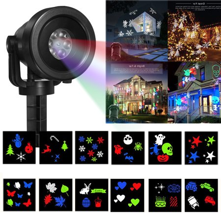 Christmas Snowflake Projector Lights Rotating LED Snowfall Projection Lamp with Remote Control, Outdoor Waterproof Sparkling Landscape Decorative Lighting for Holiday Halloween Xma - Halloween Radio Online